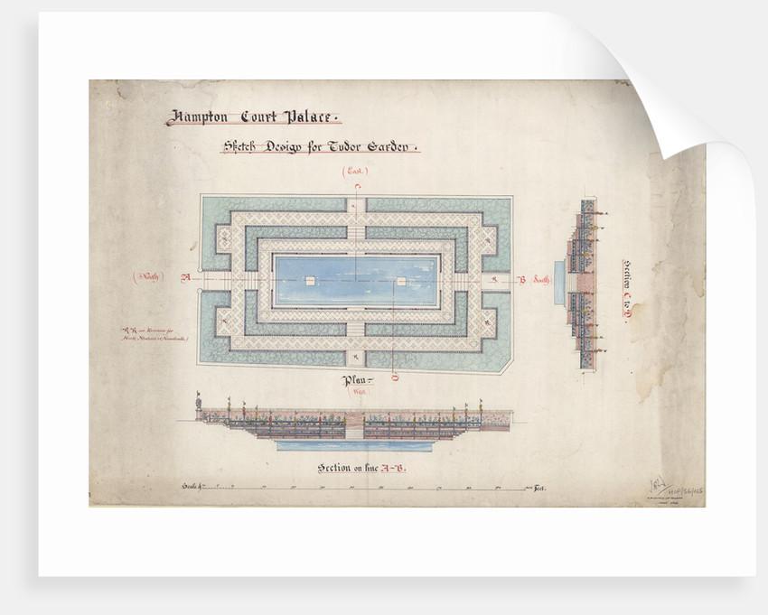 Design for Tudor garden, Hampton Court 1903 by Unknown