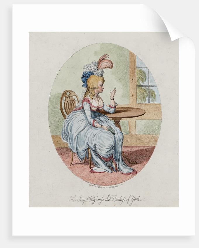 Her Royal HIghness the Duchess of York, 1792 by Charlotte Zethen