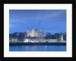 The Tower of London at dusk by James Brittain