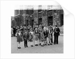 Children assembled at the Tower of London for the Beating the Bounds, 1975 by Unknown