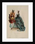 Costumes de court Reigne de Lousi XV d'apres C Cochin fils, 1745 by Unknown