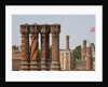 Decorative chimney stacks, Hampton Court Palace by James Brittain