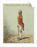 A Military Sketch of a Gilt Stick, or a Poker Emblazoned by James Gillray