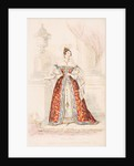 A lady in court dress of medieval inspiration, 1834 by William Hopwood