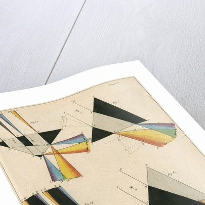 Spectra from light shone through prisms by Anonymous