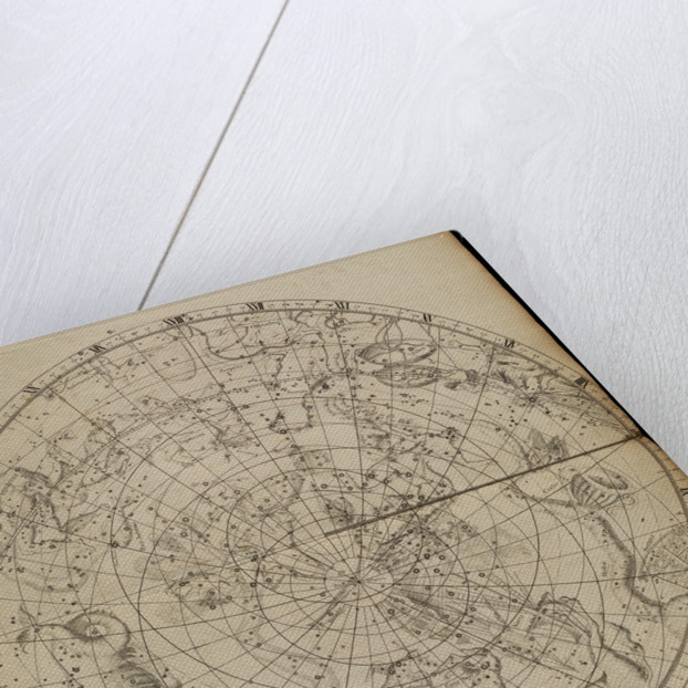 Southern planisphere, from John Flamsteed's 'Atlas Coelestis' by unknown