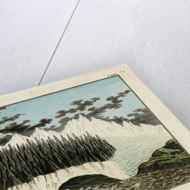 Breiðamerkurjökull glacier by Friedrich Eduard Müller
