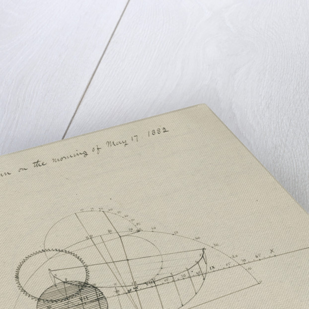 'Projection of the eclipse of the Sun on the morning of May 17, 1882' by Samuel Johnson