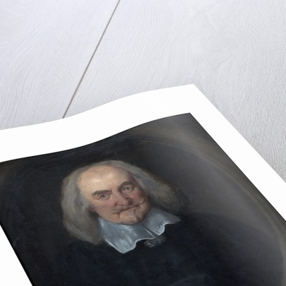 Portrait of Thomas Hobbes (1588-1679) by Jan Baptist Jaspers