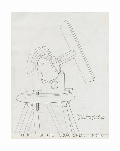 Instrument for observing zodiacal light by Charles Piazzi Smyth