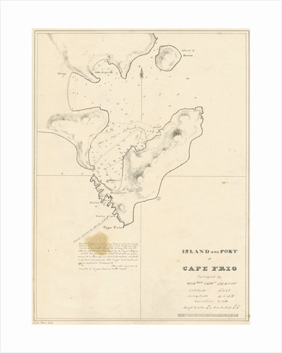 Chart of the Island and Port of Cape Frio by John Frederick Fitzgerald De Roos