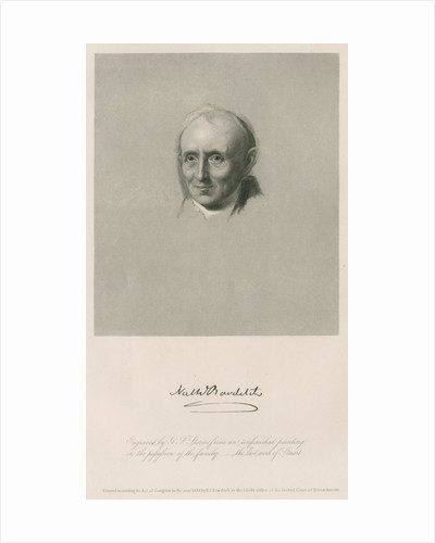 Portrait of Nathaniel Bowditch (1773-1838) by Anonymous
