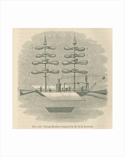 'Flying machine designed by M. de la Landelle' by William Ballingall