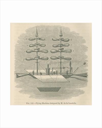 'Flying machine designed by M. de la Landelle' by William Ballingall