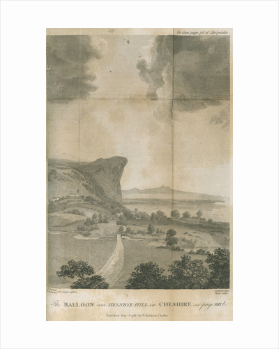 'The balloon over Helsbye Hill in Cheshire' by William Sharp