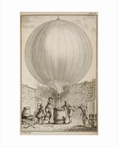 Filling a balloon with hydrogen gas by Bertault