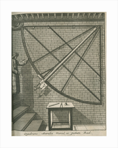 Mural quadrant at the Royal Observatory, Greenwich by Francis Place