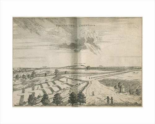East view from the Royal Observatory, Greenwich by Francis Place