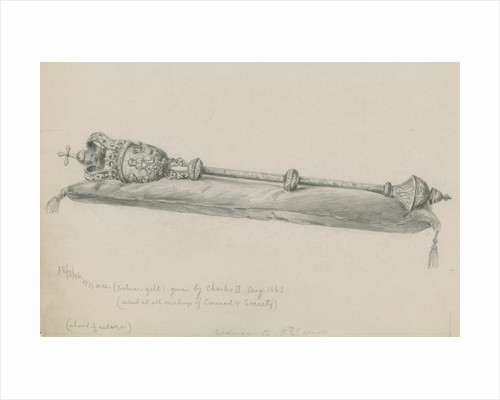 The Royal Society's mace by unknown