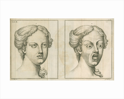 'A face demonstrating veneration or reverence and a face showing fear and terror' by James Mynde