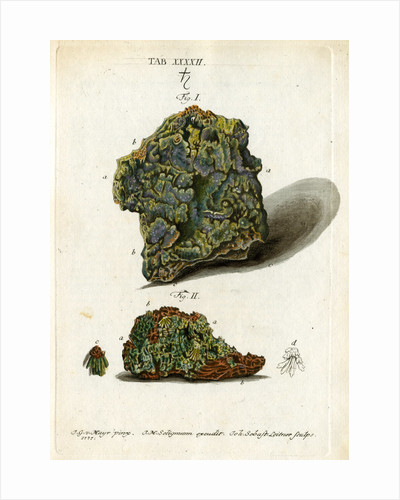 Green mineral of lead by Johann Sebastian Leitner