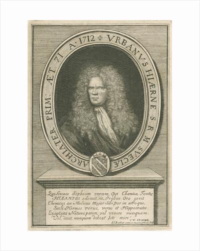 Portrait of Urban Hjarne (1641-1724) by Elias Brenner