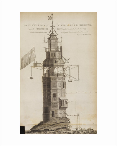 Winstanley's Lighthouse on the Eddystone Rocks by Henry Roberts