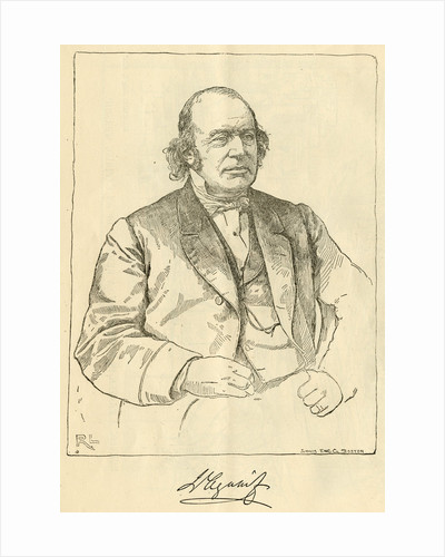 Portrait of Jean Louis Rodolphe Agassiz (1807-1873) by R. L.