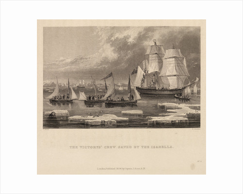 The Victory's crew saved by the Isabella by Edward Francis Finden