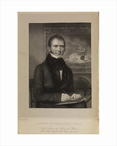 Portrait of James Holman (1786-1857) by Edward Francis Finden
