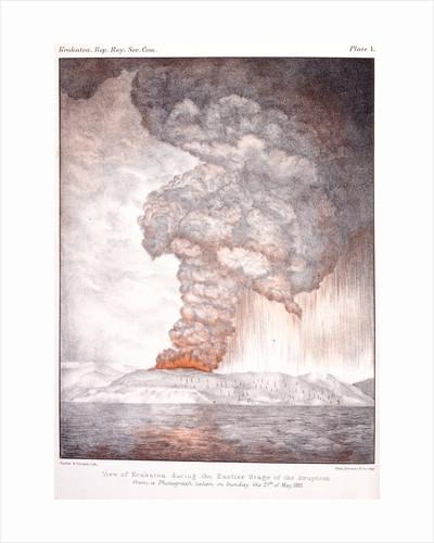 View of Krakatoa, 1883 by Parker & Coward