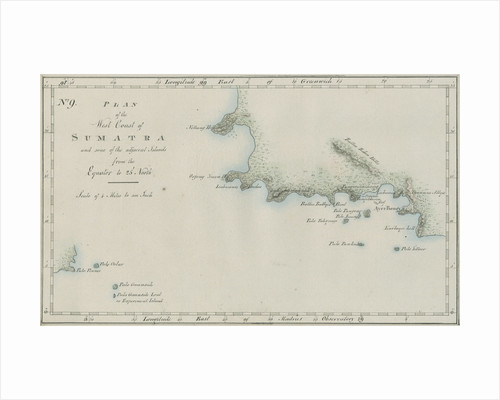 Map of the western Sumatra by unknown