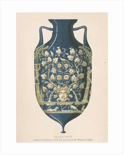 Glass vase from Pompeii by J R Robbins