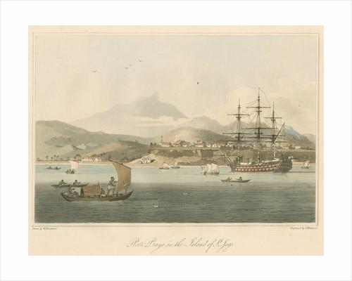 'Porto Praya in the Island of St. Jago' by Thomas Medland