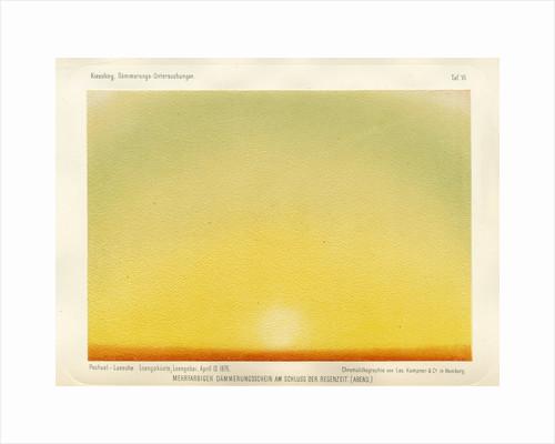 Coloured sky, evening twilight by Leo Krauss and Company