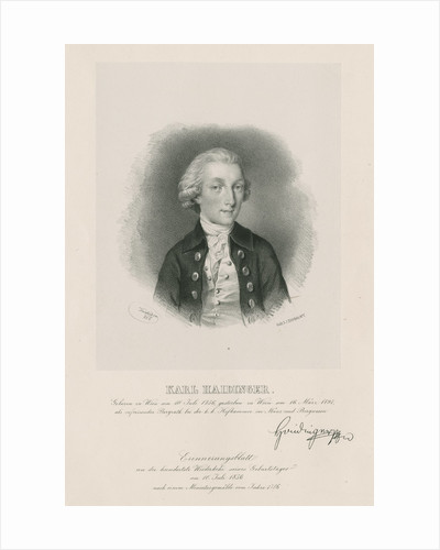 Portrait of Karl Maria Haidinger (1756-1797) by Joseph Kriehuber