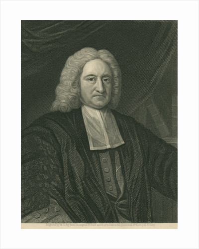 Portrait of Edmond Halley (1656-1742) by William Thomas Fry