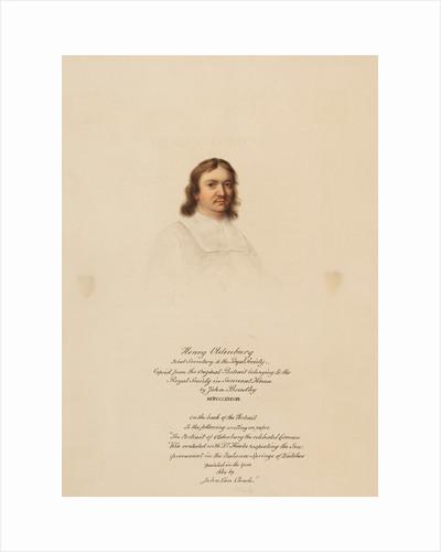 Portrait of Henry Oldenburg by John Bradley