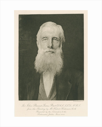 Portrait of John Bennet Lawes (1814-1900) by Walker & Boutall