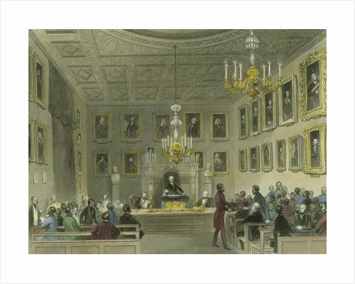 A meeting of the Royal Society at Somerset House by Henry Melville