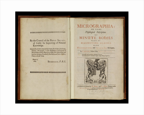 Title page of Robert Hooke's 'Micrographia' by Robert Hooke