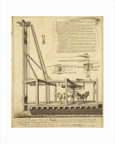Horse-gin operated pile driver by William Henry Toms