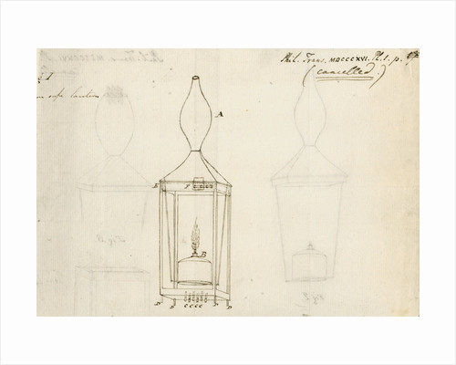 Miners' safety lamp by Humphry Davy