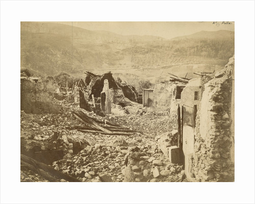 'At Polla' [earthquake damage] by Alphonse Bernoud Grellier
