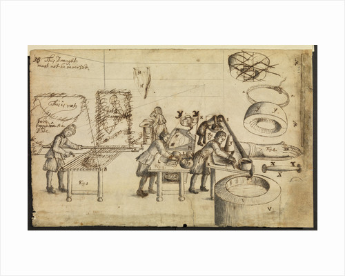 Felt-makers at work by Robert Hooke