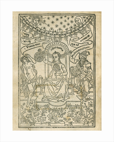 Depiction of Urania, Astronomia and Ptolemy by Anonymous