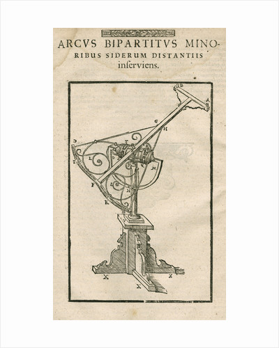 Tycho Brahe's Bipartite arc by Anonymous