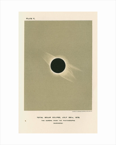 'Total solar eclipse, July 29th 1878' by Cassell & Co
