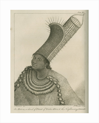 'An Heiva, or kind of Priest of Yoolee-Etea, & the Neighbouring Islands' by Thomas Chambers