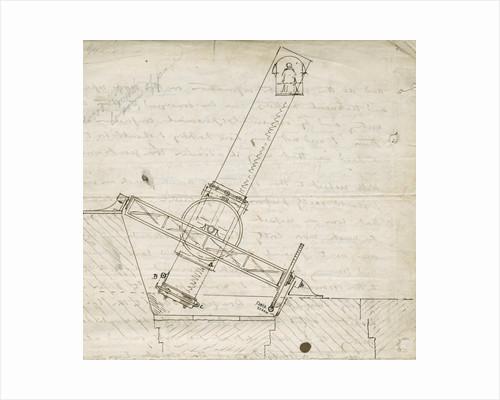 Design sketch for the Great Melbourne Telescope by James Nasmyth